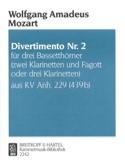 Divertimento Nr. 2 -3 Bassetthörner 2 Klar. Fag. / 3 Klar. laflutedepan.com