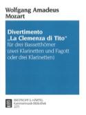 Divertimento La Clemenza di Tito-3 Bassetthörner 2 Klar. Fag. / 3Klar. laflutedepan.com