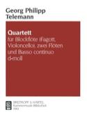 Quartett d-moll TELEMANN Partition Quatuors - laflutedepan.com