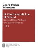 3 Trietti metodichi e Scherzi - Heft 1 –2 Flöten (Violinen) Bc - laflutedepan.com