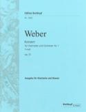 Konzert für Klarinette und Orchester Nr. 1 f-moll op. 73 – Klarinette Klavier - laflutedepan.com