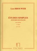 Etudes Simples - 1ère Série - Leo Brouwer - laflutedepan.com