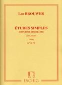 Etudes Simples -2ème Série Leo Brouwer Partition laflutedepan.com