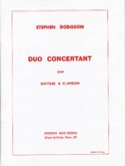 Duo Concertant Stephen Dodgson Partition Guitare - laflutedepan.com