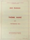 Thème Varié Jean Francaix Partition Contrebasse - laflutedepan.com