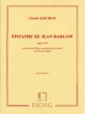Epitaphe de Jean Harlow op. 164 Charles Koechlin laflutedepan.com