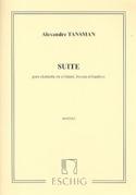 Suite pour trio d'anches - Parties Alexandre Tansman laflutedepan.com