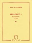 Prélude n° 3 en la mineur Heitor Villa-Lobos laflutedepan.com