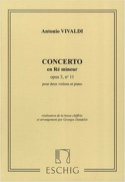 Concerto ré mineur op. 3 n° 11 –2 Violons - laflutedepan.com