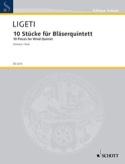 10 Stücke für Bläserquintett - Stimmen György Ligeti laflutedepan.com