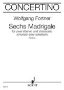 6 Madrigale - für 2 Violine, Violoncello - Partitur laflutedepan.com