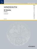 8 Pièces pour flûte solo Paul Hindemith Partition laflutedepan.com