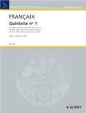 Quintette N°1 1948 - Parties Jean Françaix Partition laflutedepan.com