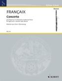 Concerto pour Basson Jean Françaix Partition Basson - laflutedepan.com