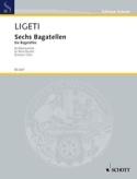 6 Bagatellen - Bläserquintett -Stimmen György Ligeti laflutedepan.com