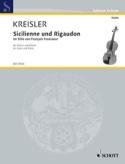 Sicilienne et Rigaudon Fritz Kreisler Partition laflutedepan.com
