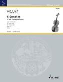 6 Sonates op. 27 / Etude posthume Eugène Ysaÿe laflutedepan.com