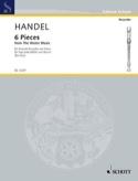 6 Pieces from Water Music - Descant recorder HAENDEL laflutedepan.com