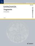 Fragmente Makoto Shinohara Partition Flûte à bec - laflutedepan.com