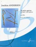 26 Petits caprices op. 37 Joachim Andersen Partition laflutedepan.com