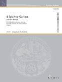 5 Leichte Suiten - Altblockflöte u. Bc Partition laflutedepan.com