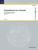 Greensleeves to a Ground - Sopranblockflöte u. Klavier laflutedepan.com