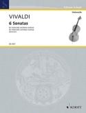 6 Sonatas – Violoncelle Antonio Vivaldi Partition laflutedepan.com
