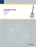 25 leichte Gitarren-Duos Partition Guitare - laflutedepan.com