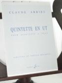 Quintette En Ut - Partition & Parties Claude Arrieu laflutedepan.com