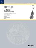 Sonate la Follia op. 5 n° 12 CORELLI Partition laflutedepan.com