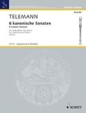 6 Sonaten im Kanon TELEMANN Partition Flûte à bec - laflutedepan.com