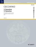 3 Sonaten -Blockflöte und Bc Tomaso Cecchino laflutedepan.com