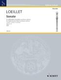 Sonate a-moll op. 3 n° 4 - Altblockflöte u. Bc LOEILLET laflutedepan