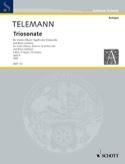 Triosonate F-Dur -Violine Fagott Bc TELEMANN laflutedepan.com