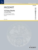 12 Easy duets - 2 descant recorders or violins MOZART laflutedepan.com