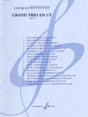 Grand Trio en Ut op. 87 - 3 Vents BEETHOVEN Partition laflutedepan.com