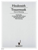 Trauermusik –Viola Klavier Paul Hindemith Partition laflutedepan.com