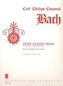 10 Kleine Trios -2 Flöten Violine - Partitur + Stimmen laflutedepan.com