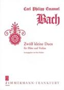 Zwölf Kleine Duos Carl Philipp Emanuel Bach Partition laflutedepan.com