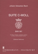 Suite c-moll BWV 997 –Flöte 2 Violinen BC BACH laflutedepan.com