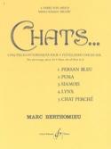 Chats - 4 Flûtes Marc Berthomieu Partition laflutedepan.com