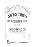 6 Trios Op.100 Vol.2 HAYDN Partition Trios - laflutedepan.com