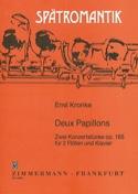 Deux papillons op. 165 Emil Kronke Partition Trios - laflutedepan.com
