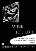 9 Grosse Künstlerstudien - Flöte Leonardo de Lorenzo laflutedepan.com