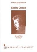 6 Duette - Heft 1 : KV Anh. 156 - 2 Flöten MOZART laflutedepan.com