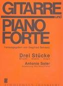 Drei Stücke Antonio Soler Partition Guitare - laflutedepan.com