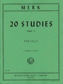 20 Studies op. 11 for Cello Joseph Merk Partition laflutedepan.com