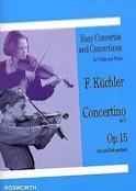 Concertino en RÉ opus 15 Ferdinand Küchler Partition laflutedepan.com
