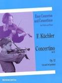 Concertino in D op. 12 Ferdinand Küchler Partition laflutedepan.com