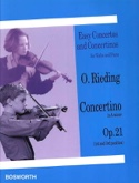 Concertino op. 21 en La mineur - Oskar Rieding - laflutedepan.com